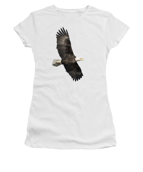 Isolated American Bald Eagle 2016-4 Women's T-Shirt (Junior Cut) by Thomas Young