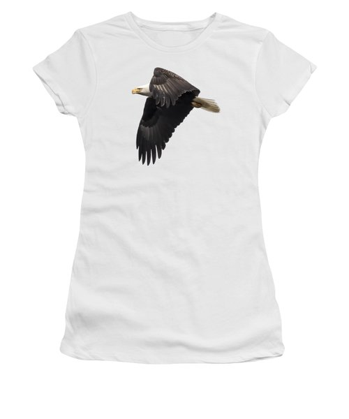 Isolated American Bald Eagle 2016-6 Women's T-Shirt (Junior Cut) by Thomas Young