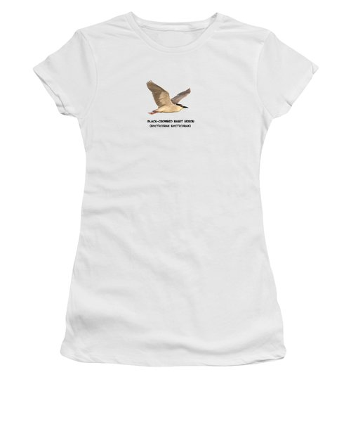 Isolated Black-crowned Night Heron 2017-6 Women's T-Shirt (Junior Cut) by Thomas Young