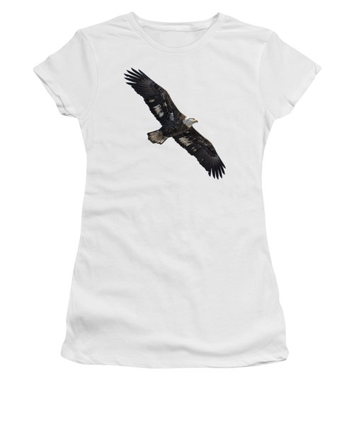Isolated Juvenile American Bald Eagle 2016-1 Women's T-Shirt (Junior Cut) by Thomas Young