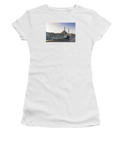 Women's T-Shirt (Junior Cut) featuring the photograph Istanbul From The Galata Bridge by Yuri Santin