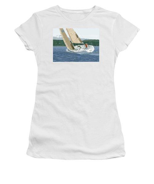 J-109 Sailboat Sail Boat Sailing 109 Women's T-Shirt