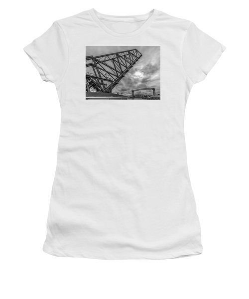 Jackknife Bridge To The Clouds B And W Women's T-Shirt (Athletic Fit)