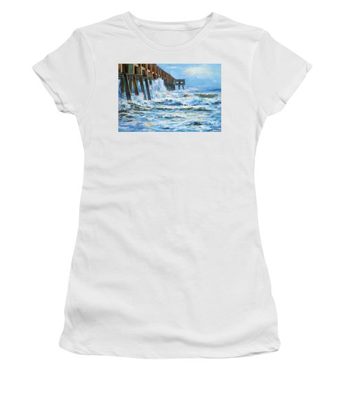 Jacksonville Beach Pier Women's T-Shirt (Athletic Fit)