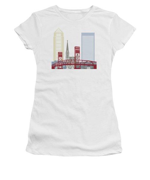 Jacksonville Skyline Poster Women's T-Shirt