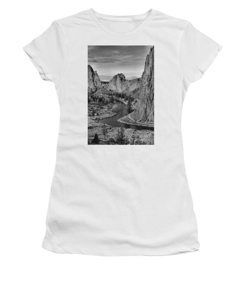Jagged Peaks And The Crooked River Women's T-Shirt