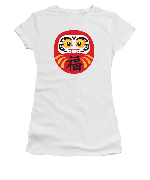 Japanese Daruma Doll Illustration Women's T-Shirt