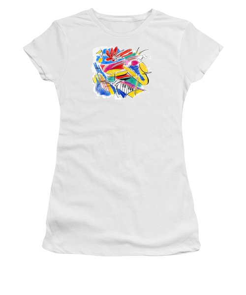 Jazz Art Women's T-Shirt (Athletic Fit)