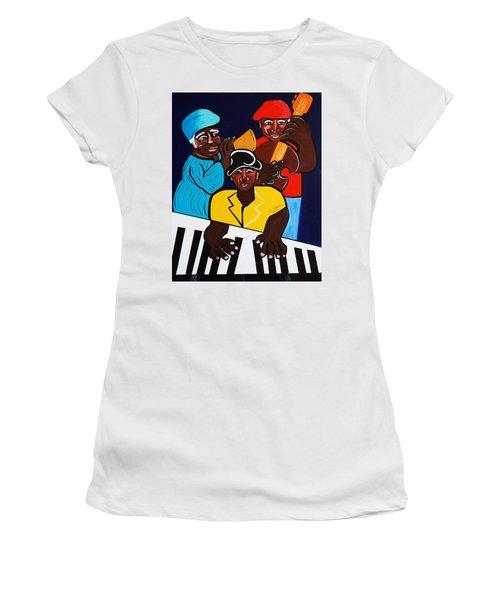 Jazz Sunshine Band Women's T-Shirt (Junior Cut) by Nora Shepley