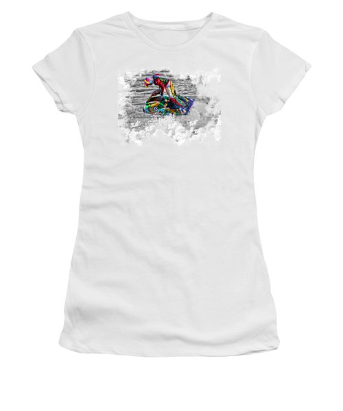 Jet Ski On Transparent Background Women's T-Shirt (Athletic Fit)