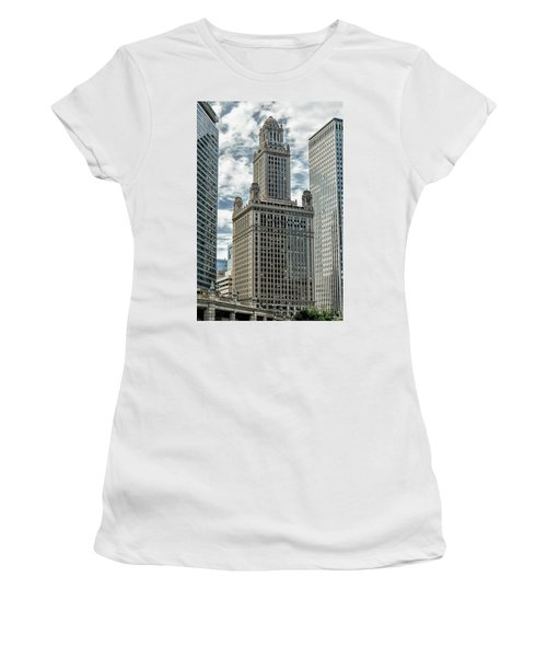 Jewelers Building Chicago Women's T-Shirt (Junior Cut) by Alan Toepfer