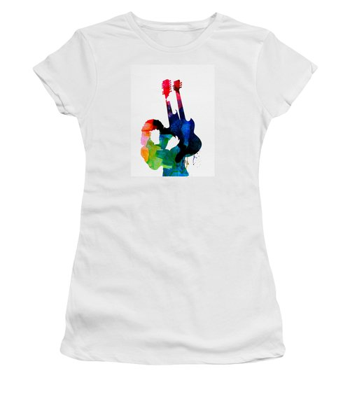 Jimmy Watercolor Women's T-Shirt (Athletic Fit)