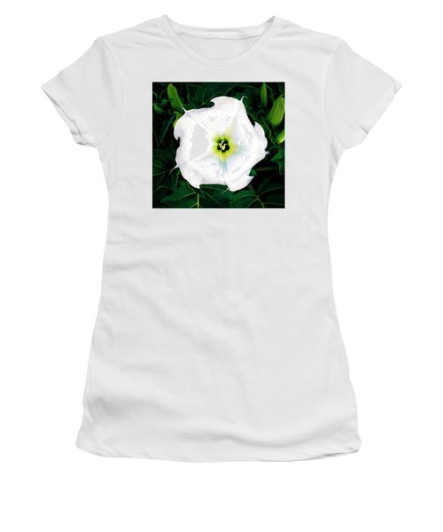 Women's T-Shirt featuring the photograph Jimson Weed #1 by Lou Novick
