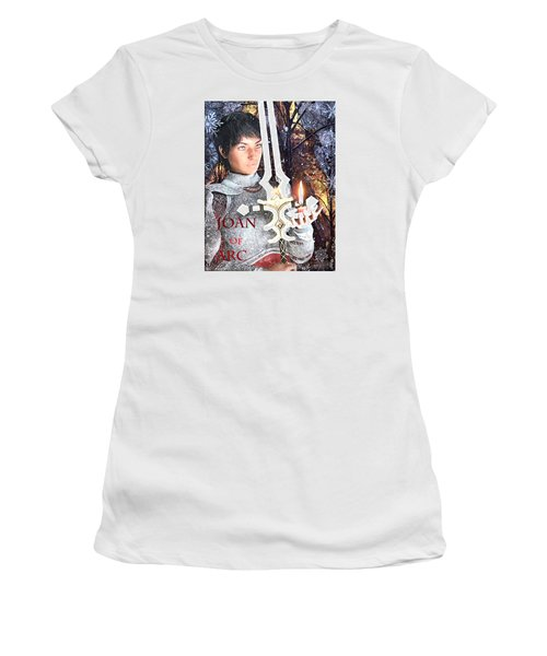 Joan Of Arc Poster 2 Women's T-Shirt (Athletic Fit)