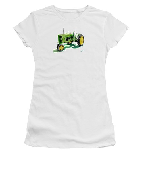 John Deere Tractor Women's T-Shirt (Junior Cut) by Ferrel Cordle