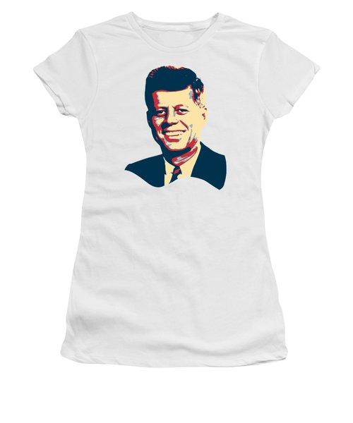 John F Kennedy Color Pop Art Women's T-Shirt