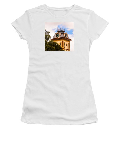 John W. Hargis Hall Clock Tower Women's T-Shirt (Junior Cut) by Ed Gleichman