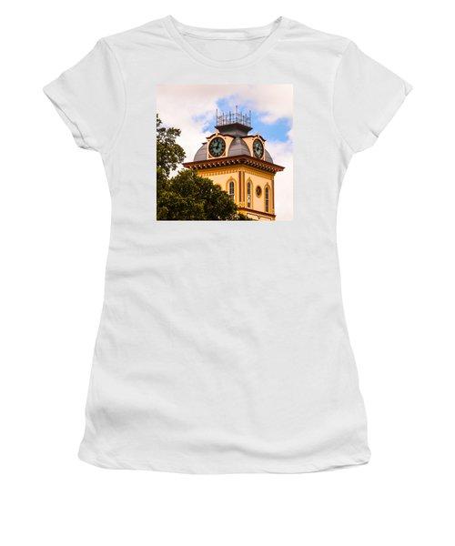 John W. Hargis Hall Clock Tower Women's T-Shirt