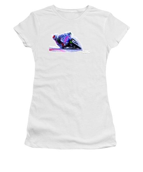 Jorge Lorenzo Yamaha Women's T-Shirt (Athletic Fit)
