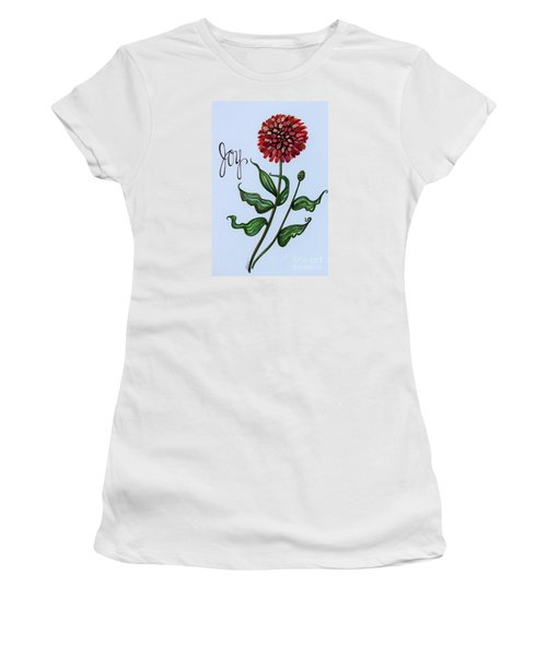 Women's T-Shirt (Junior Cut) featuring the painting Joy by Elizabeth Robinette Tyndall