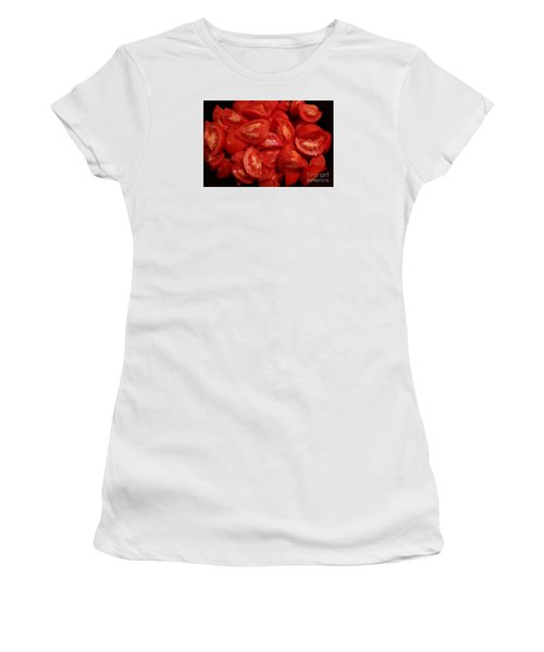 Women's T-Shirt (Junior Cut) featuring the photograph Juicy Tomatoes by Jeanette French