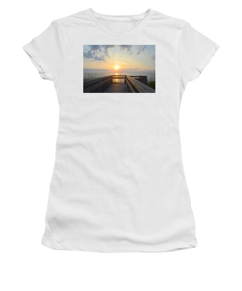 Women's T-Shirt featuring the photograph June 17th Sunrise by Barbara Ann Bell