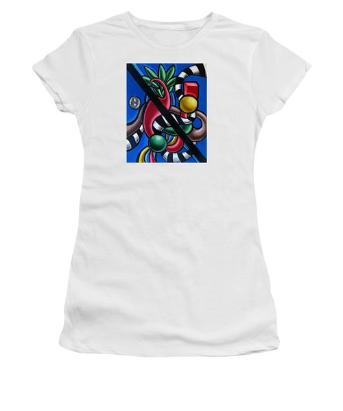Jungle Stripes 1 - Abstract Art Painting - Ai P. Nilson Women's T-Shirt (Athletic Fit)