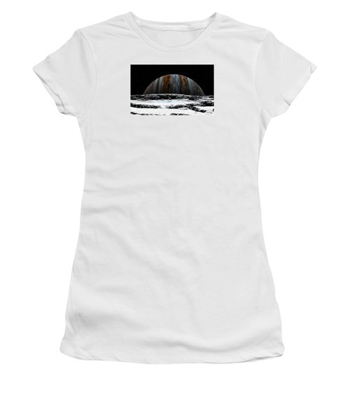 Jupiter Rise At Europa Women's T-Shirt (Athletic Fit)