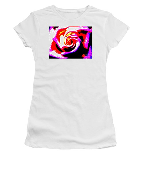 Just A Rose Women's T-Shirt (Athletic Fit)