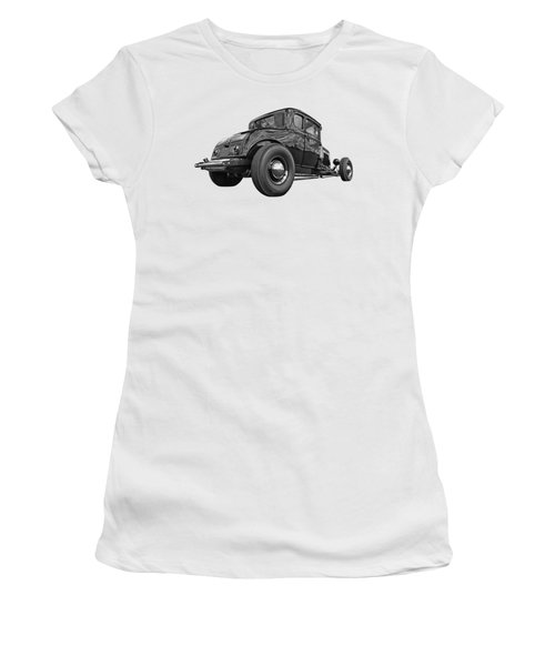 Just Chillin' - Black And White Women's T-Shirt