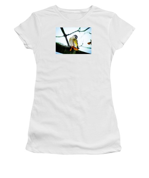 Women's T-Shirt (Junior Cut) featuring the photograph Just Curious by Zinvolle Art