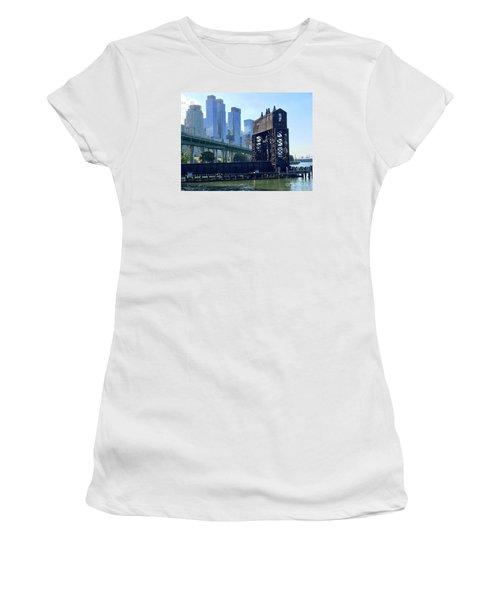 Juxtaposition Women's T-Shirt (Junior Cut) by Beth Saffer