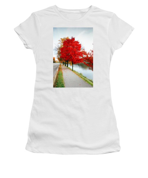 Kanawha Boulevard In Autumn Women's T-Shirt (Athletic Fit)