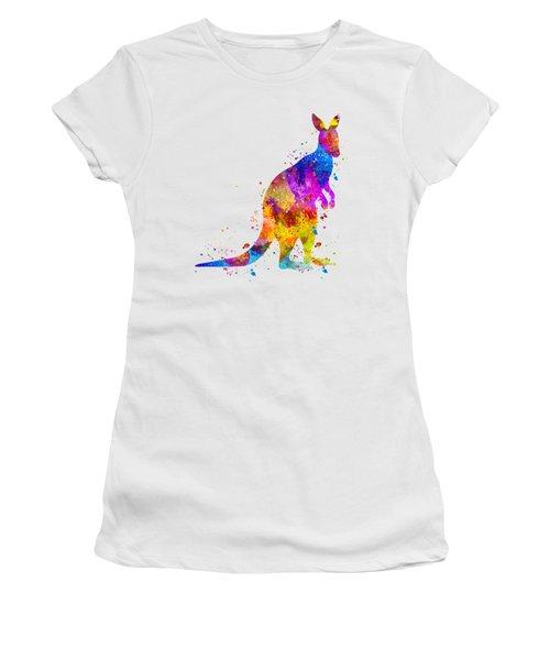 Kangaroo Art Women's T-Shirt (Athletic Fit)