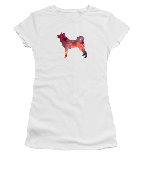 Karelian Bear Dog In Watercolor Women's T-Shirt