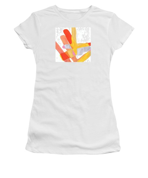 Karlheinz Stockhausen Tribute Falling Shapes Women's T-Shirt (Junior Cut) by Dick Sauer