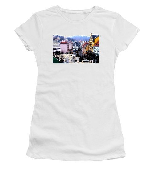 Women's T-Shirt featuring the photograph Karlovy Vary Cz by Michelle Dallocchio