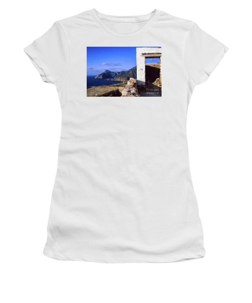 Women's T-Shirt (Athletic Fit) featuring the photograph Karpathos Island Greece by Silvia Ganora