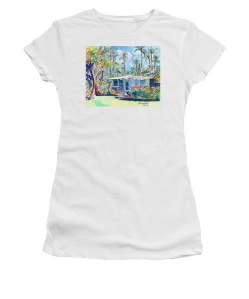 Kauai Blue Cottage 2 Women's T-Shirt