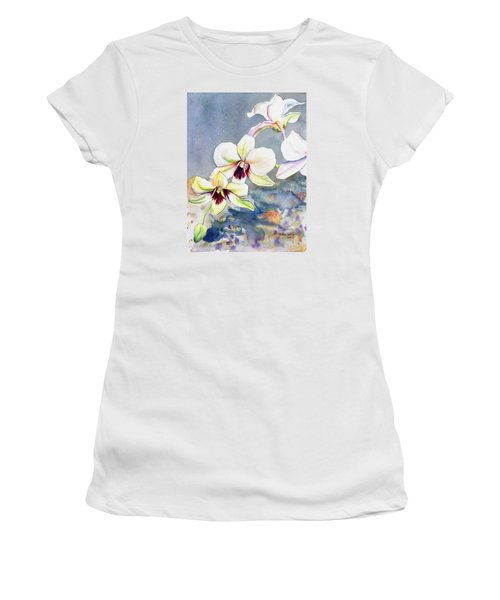 Kauai Orchid Festival Women's T-Shirt (Junior Cut) by Marionette Taboniar