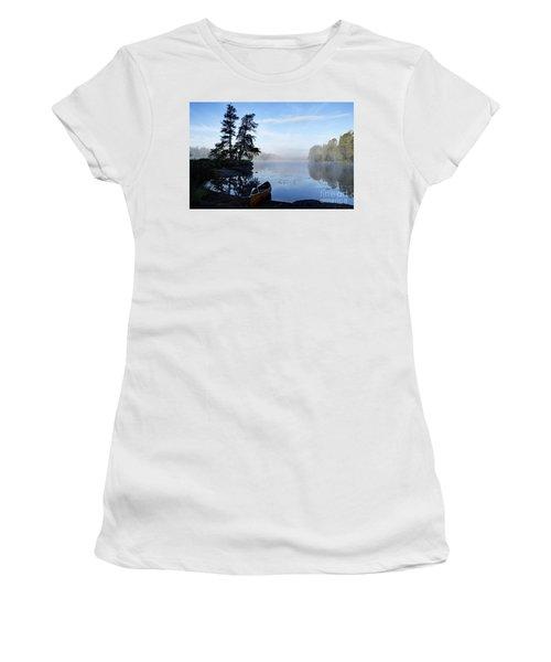 Kawishiwi Morning Women's T-Shirt (Junior Cut) by Larry Ricker