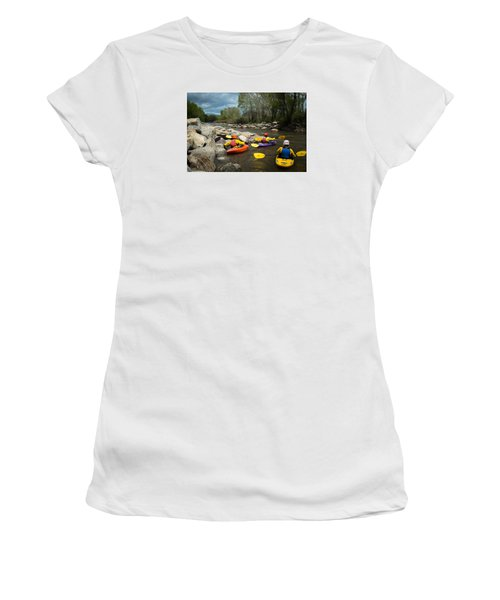 Kayaking Class Women's T-Shirt (Athletic Fit)