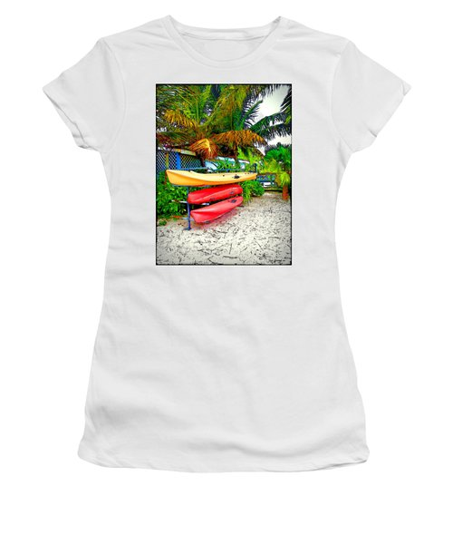 Kayaks In Paradise Women's T-Shirt (Athletic Fit)