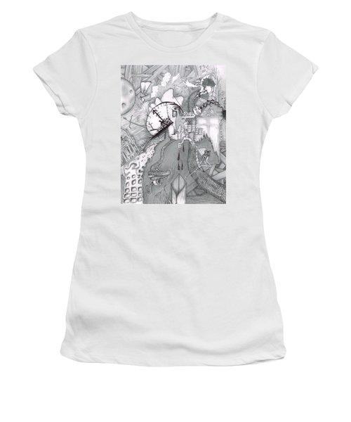 Kayla Dan Collaboration Women's T-Shirt (Junior Cut) by Dan Twyman