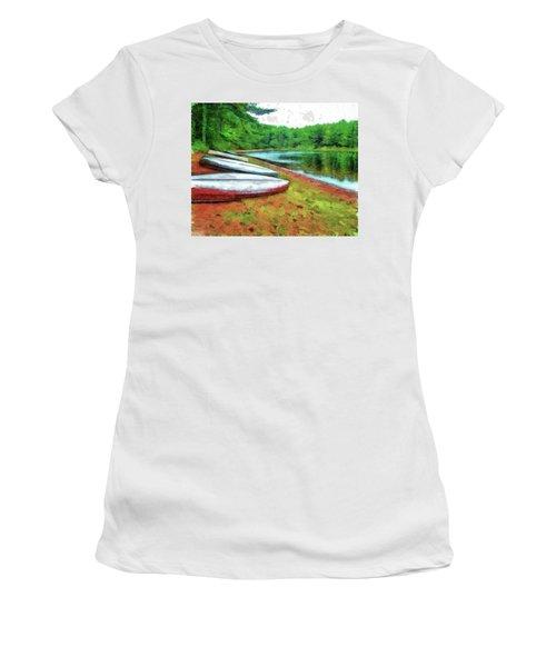 Kearney Lake Beach Women's T-Shirt (Junior Cut)