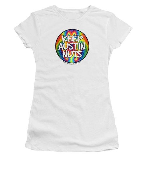 Keep Austin Nuts Women's T-Shirt (Junior Cut) by Ismael Cavazos