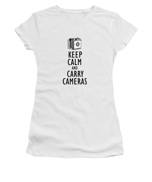 Keep Calm And Carry Cameras Phone Case Women's T-Shirt (Athletic Fit)