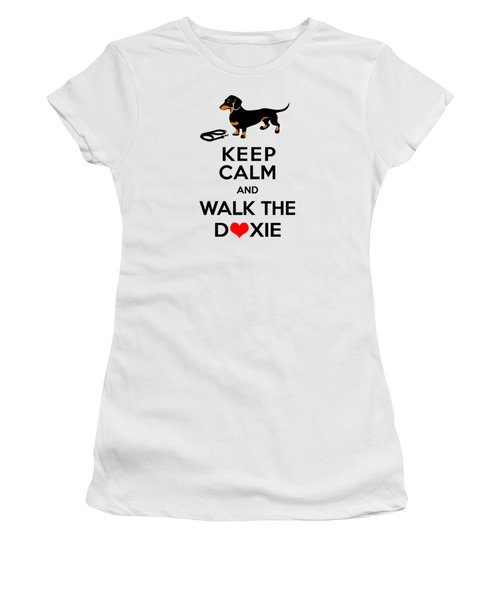 Keep Calm And Walk The Doxie Women's T-Shirt