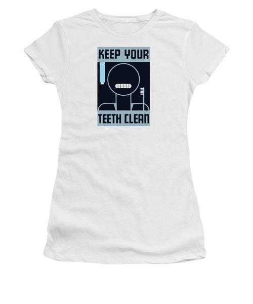 Keep Your Teeth Clean - Wpa Women's T-Shirt