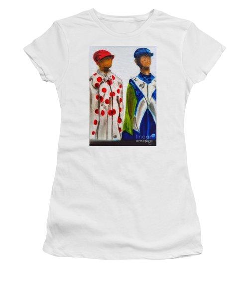 Kentucky Derby Jockey Mannequins Women's T-Shirt